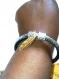 Diy bracelet plume effet argenté