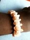 Diy bracelet ruban froufrou avec perles