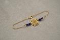 """Bracelet de cheville """" andromaque """" en plaqué or, perles en cristal de bohême"""