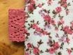 Trousse de toilette esprit liberty molletonnée à fleurs roses et lilas