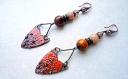 Boucles d,oreilles tribales,estivales,automnales,colorées