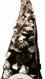 X10cm galon brodé main - perles breloques et boutons noir