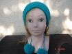 Bandeau unique , serre tête ,passe , headband vert taille adulte ou fillette tricoté fait main en laine