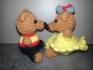 """Couple """"oursons"""" - décoration, collection, cadeau saint-valentin"""