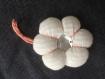 Porte-clés / bijou de sac fleur tissu blanc - modèle unique