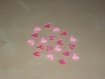 Lot de 19 perles coeurs roses