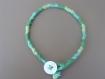 Bracelet macramé avec une fermeture bouton