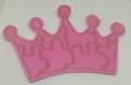 Puzzle couronne en feutrine rose broder