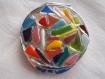 Miroir multicolore en verre fusing