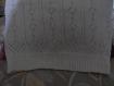 Débardeur-top été coton blanc fait main