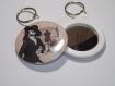 Porte clef avec miroir au dos 58mm rétro femme