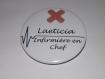 Badge métier ,5.8 cm texte personnalisable, infirmière , aide soignante