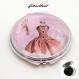 Bijou de créateur boucle d'oreille pendante, tutu et ballerine,petit rat de l'opéra , danseuse étoile, sous cabochon en verre 20 mm