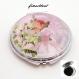 Miroir de poche refermable , cabochon resine tutu ballerine rose ,danseuse etoile