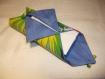 Etui à mouchoir en tissu coloris bleu/exotique