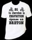 """Tee-shirt humoristique imprimé """"si tu aimes la perfection, épouse un breton"""""""
