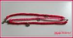 Bracelet en coton tressé avec breloques fleurs