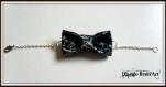 Bracelet avec noeud papillon en tissu