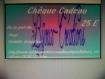 Chèque cadeau d'une valeur de 25 euros