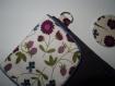 Pochette housse tablette liseuse tissu ou simili cuir au choix sur mesure liberty...