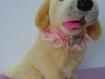 Collier en dentelle rose avec un ruban rose