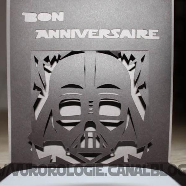 Carte Bon Anniversaire Dark Vador Par Vurorologie