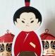 Carte samurai avec son katana et sa tenue vive