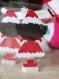 Petite poupée de noël en papier découpé - brune
