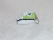 Porte clé / bijou de sac basket vert anis