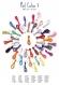 Mitaines au crochet modèle coquille écru taupe brun