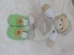 Chausson bébé bottines vert anis au crochet