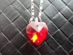 Collier chaine et pendentif coeur rouge en cristal swarovski