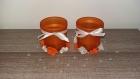 Ensemble de 2 photophores pour mariage orange