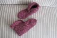 Chaussons pure laine 32/35, et fil d'argent lurex