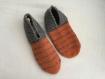 Chaussons tricotés 40/42 en 75 % laine, bottes, jardinage, lit, détente, yoga, camping, chalet, convalescence, voyage