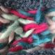 Chaussons pure laine vierge. 336/38 bleu. alpaga .lit, voyage, convalescence...