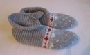 Sur commande chaussons 39/42 pure laine, femme,  jacquard tricotés main, lit, convalescence, après chirurgie des pieds, montagne, camping, chalet