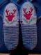 Sur commande chaussons 35/38 pure laine, femme, enfant, jacquard, chirurgie des pieds, voyage, yoga,camping, chalet, montagne