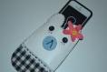 Pochette pour téléphone portable fait main 15x9 cm