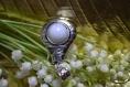 Pendentif pour collier avec howlite et métal argenté