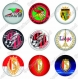Images digitales foot belgique jupiler pro league cabochons ronds 25 mm
