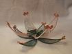 Bougeoir fleur en cuivre