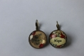 Boucles cabochons hope and dream