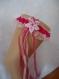 Kit jarretière dentelle rose et fushia accessoire mariage