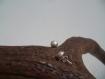 Boucles d'oreille - argent brossé - fabrication artisanale