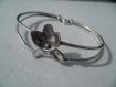 Bracelet - fleur de violette - matière noble