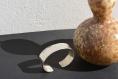 Bracelet argent martelé - modèle large
