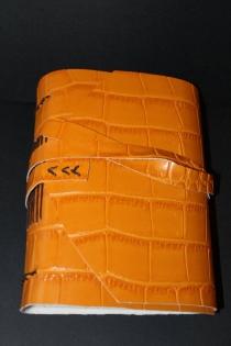 Carnet simili croco orange