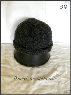Bonnet gris anthracite