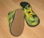 Chaussons bottines bébé 6-12 mois feutrés 100% laine mérinos n 29